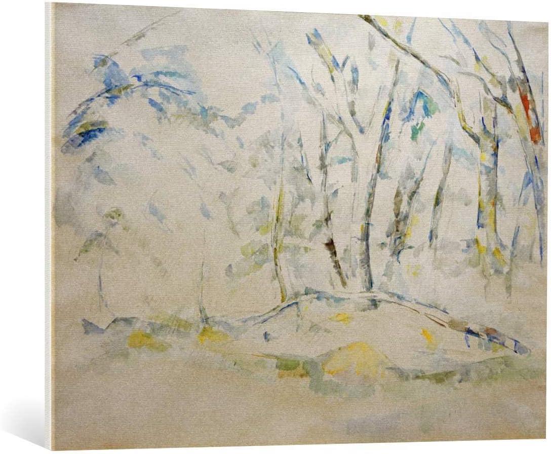 Kunst für Alle Cuadro en Lienzo: Paul Cézanne Unterholz - Impresión artística, Lienzo en Bastidor, 100x75 cm
