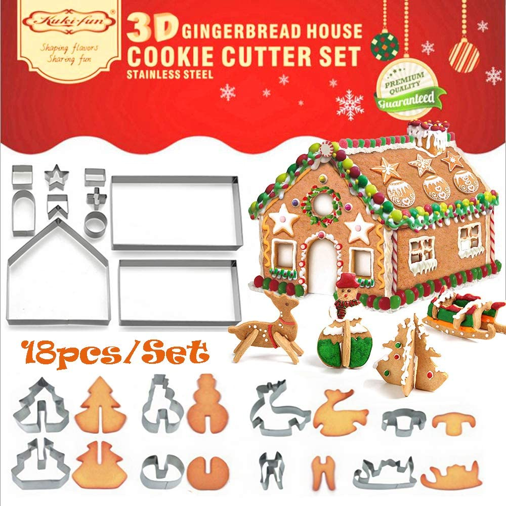 Decor Cookie Cutter Christmas Gingerbread House Biscuit Mold new Creative S M2G6