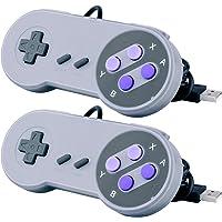 2 Pcs Mandos USB Raspberry Pi, Quimat SNES Controlador / Gamepad de USB Portátil para PC Raspberry Pi Windows Mac