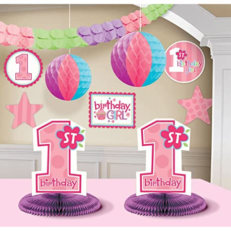 Amazon Celebrateexpress 1st Birthday Girl Decorating Kit Party