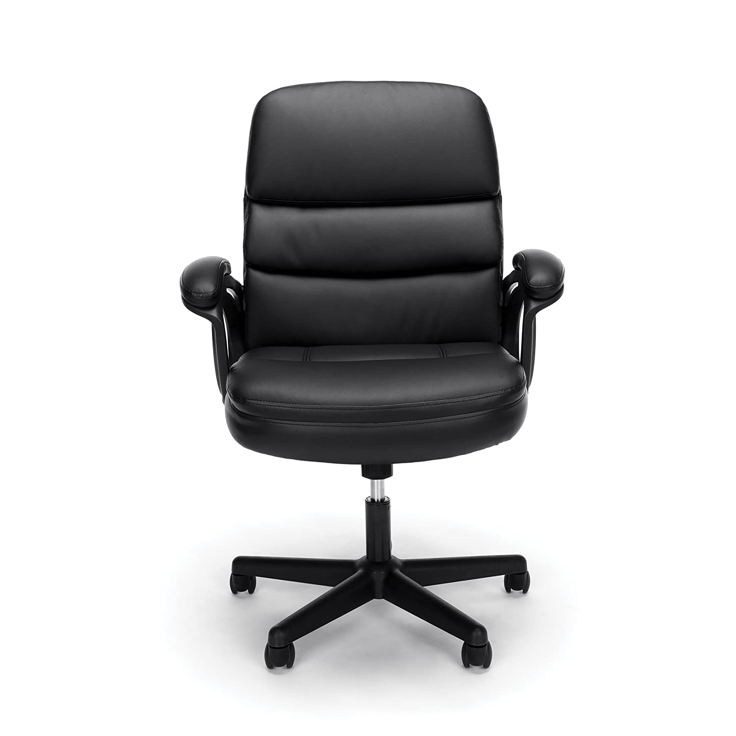 Essentials by OFM Leather Executive Chair, Ergonomic Managers Computer Office Chair, Black