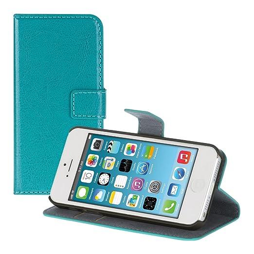 86 opinioni per kwmobile Custodia portafoglio per Apple iPhone SE / 5 / 5S- Cover a libro in