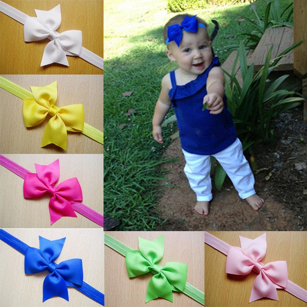 Childplaymate 12pcs Baby Headband Band Accessories Elastic Hair Band Child Headwear