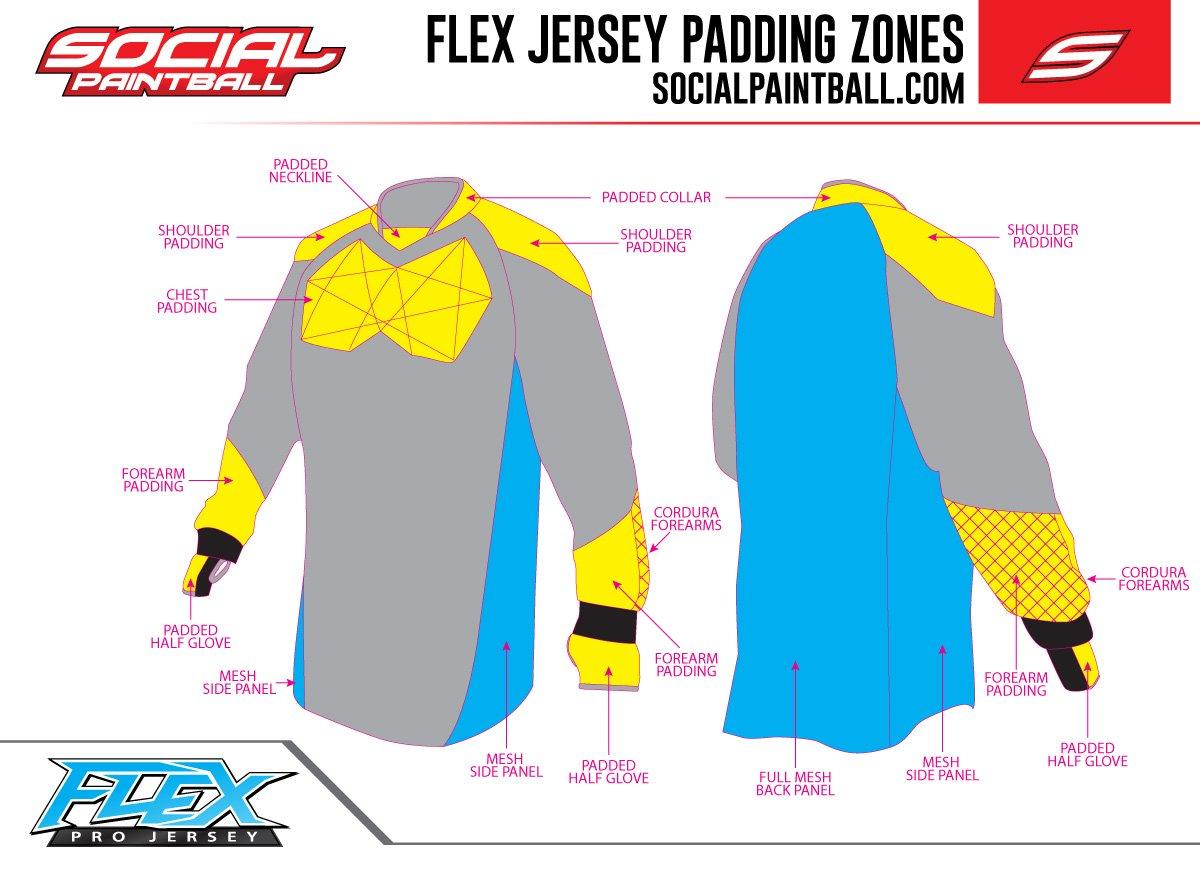 Wings Camo Social Paintball Custom Flex Padded or Unpadded Jersey