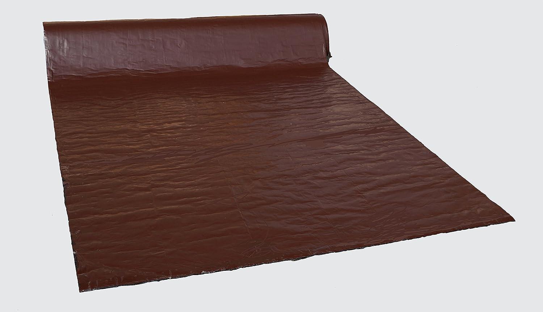 Format 1 x 10 m Farbe Braun Dachabdichtungbahn Bitumen mit farbiger Aluminiumbeschichtung 10 m2 Vollfl/ächig selbstklebend Hergestellt in Deutschland.