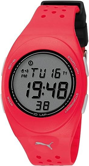 Puma A.PU910942012 - Reloj Digital para Mujer de plástico Resistente al Agua Gris: Amazon.es: Relojes
