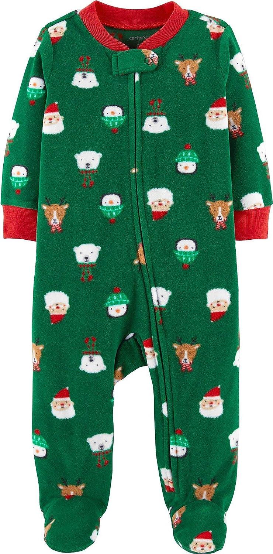Carter's Baby Boys' Christmas Zip-Up Fleece Sleep & Play Carters P000540083