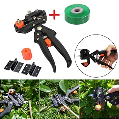 SUJING Garden Grafting Tool, Professional Garden Fruit Tree Pruning Shears Grafting Cutting Tool Kit Pruner Kit with Grafting Tape : Garden & Outdoor