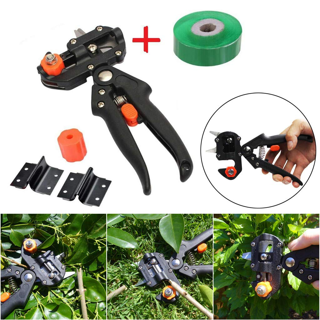 YunZyun Garden Plants Cutting Tools Sets Tree Pruning Shears Scissor for Plants Nursery (Black)