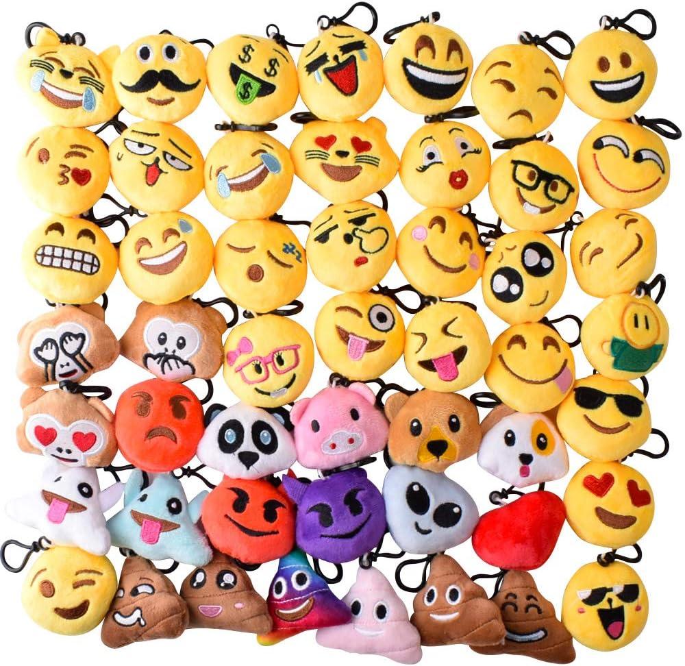 Stile 3-emoji-50pz Gudotra 50pz Emoji Portachiavi Gadget Compleanno Bambini Regalini Natale Pensierino Compleanno Bomboniera Bambini