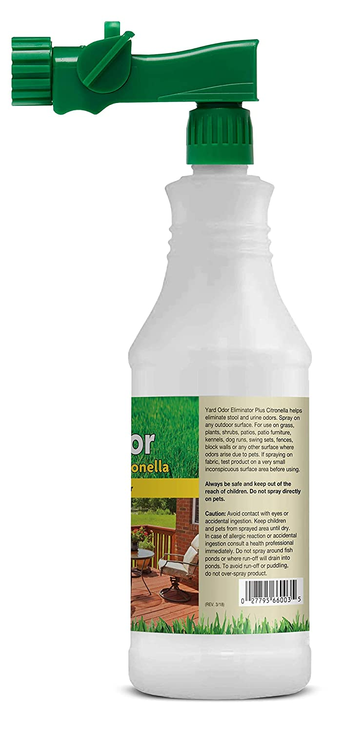 NaturVet – Yard Odor Eliminator Plus Citronella Spray | Eliminate Stool and  Urine Odors from Lawn and Yard | Designed for Use on Grass, Patios,