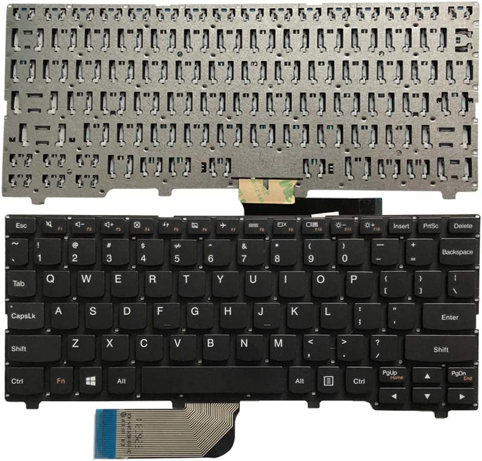 Laptop Replacement Keyboard Fit Lenovo IdeaPad 100S-11IBY US Layout (No C Shell Black)