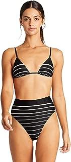 product image for Vitamin A Women's Midnight Stripe Sol Sliding Triangle Bikini Top