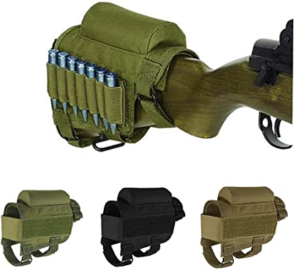 Leather Recoil Pad Rifle Gun Buttstock Butt Sleeve Cheek Rest Pad Right Handed