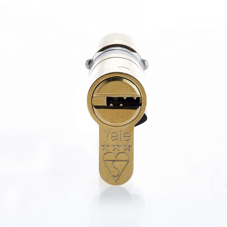 Cilindro Europeo Resistente a Golpes TS2007. de Alta Seguridad uPVC Cerradura Barril para Puertas Yale Platinum 3 Star