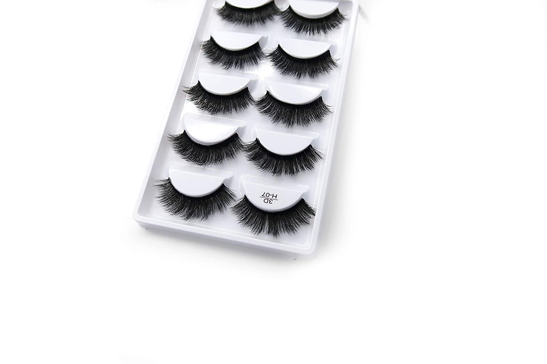 Amazon.com : Mink hair false eyelashes 3D three-dimensional multi-layer pure hand-lashes thick false eyelashes (3D-H7, 19(2)) : Beauty