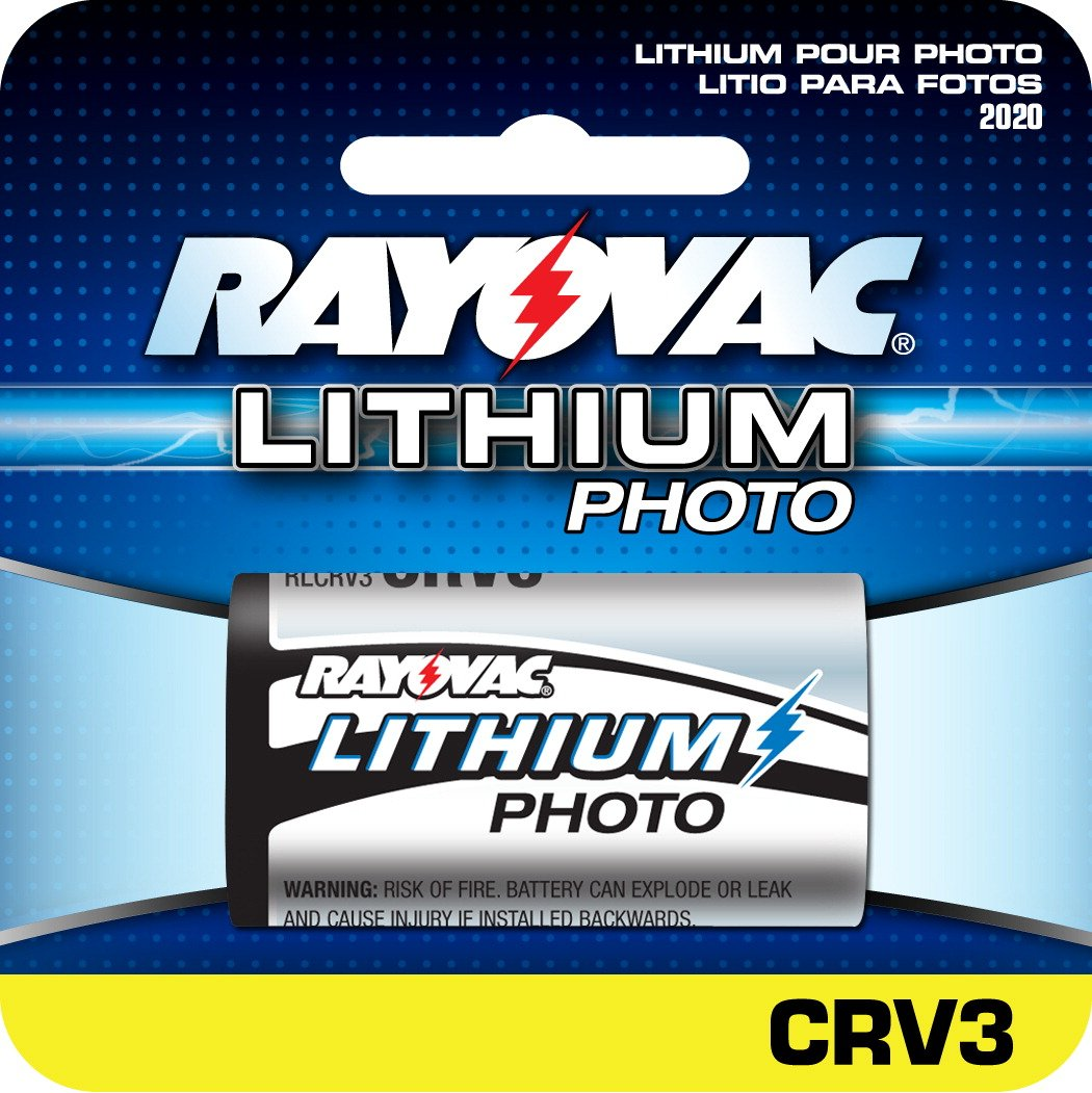 Rayovac RLCRV3 Photo Lithium Battery Replacement