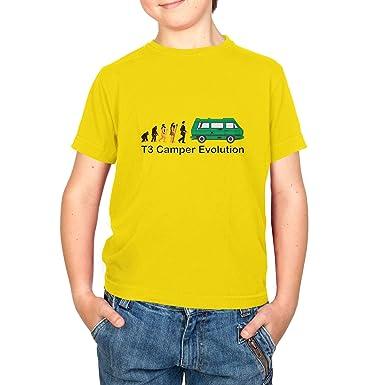 Texlab T3 Camper Evolution Color Edition - Kinder T-Shirt, Größe XS, Gelb