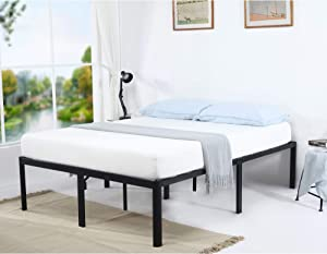 V&LX 18 Inch Tall V1406 UP-Support Deluxe Metal Slat Bed Frame (Queen)