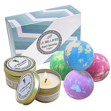 Boules Bougies Huiles Parfumées Pour Amies Cadeau La Idées Coffret Bombes Essentielles Bioamp; Aux Bellefée De Effervescentes Bain ZiuPXk