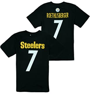 Outerstuff Pittsburgh Steelers NFL Big Boys Ben Roethlisberger   7 Player  Shirt - Black 0d403c6fb