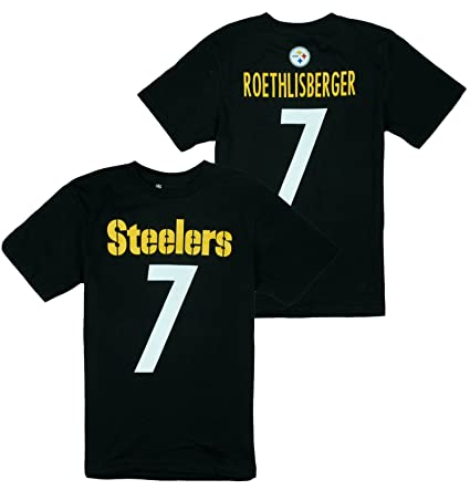 Tops, Shirts & T-shirts New Nfl Team Apparel Pittsburgh Steelers Short Sleeve Black Jersey Boys Size 6-7 Sports Mem, Cards & Fan Shop