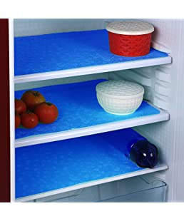 Unique Productions™ Refrigerator Drawer Mat/Fridge Mat/Multipurpose Mat Set of 6 Pcs (12 X 17 Inches) (Blue)