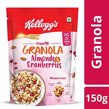 Kellogg's Crunchy Granola Almonds and Cranberries, 150g