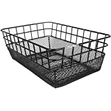 "Sunlite Rack Top Wire/Mesh Basket, 10.25 x 15 x 5"", Black"