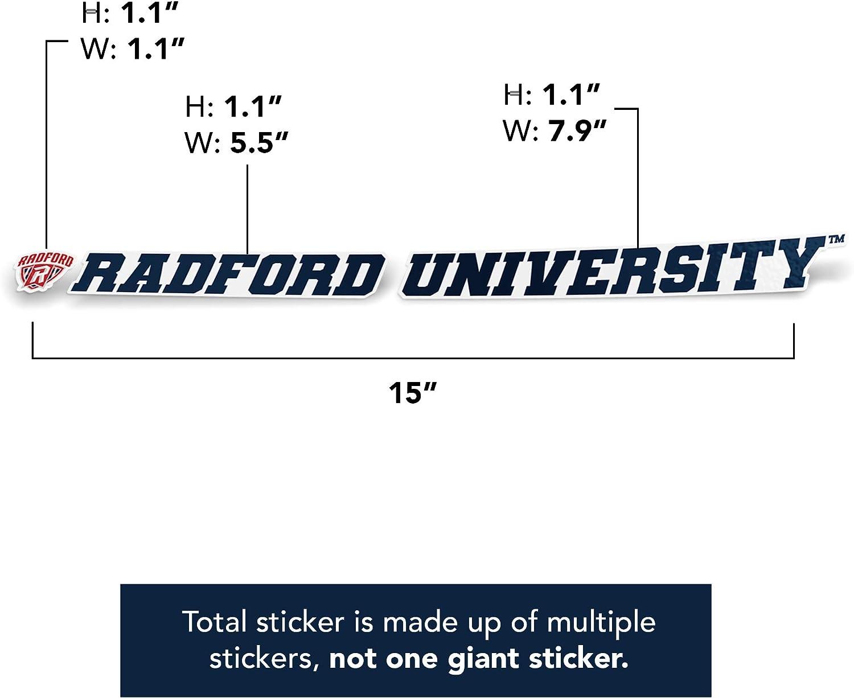 15 Inch Sticker Radford University Highlanders NCAA Name Logo Vinyl Decal Laptop Water Bottle Car Scrapbook