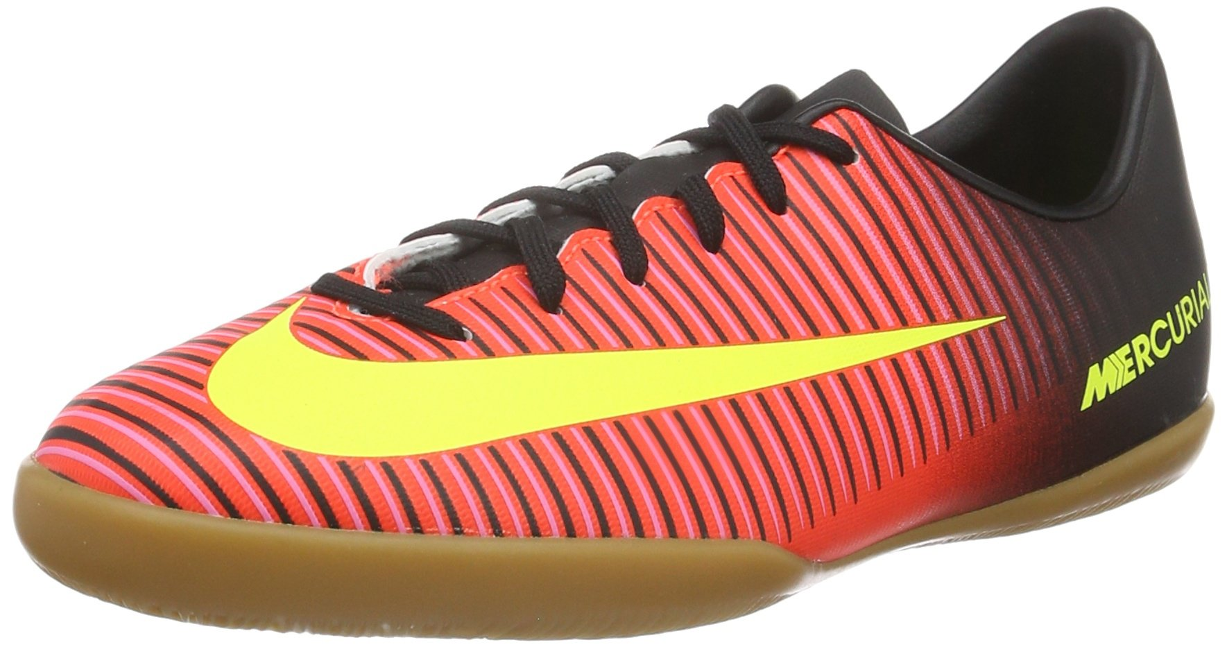 NIKE Kid's Jr Mercurialx Vapor XI IC, Total Crimson/Vlt-Blk-Pnk Blst, Youth Size 4