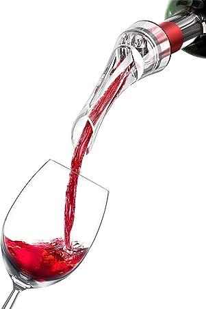 Decantador de Vino y Aireador para Botella - Vertedor Rapido Profesional de Calidad   Oxidante de Vino Tinto, Decantadores Pourer   Accesorios Bar, Tapón, Regalo Mujer Hombre Cumpleaños Fiesta Amigo