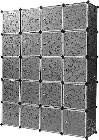 Armadi Ad Angolo Ricci Casa.Finether Guardaroba Modulare A 20 Cubi Scaffale Armadietto