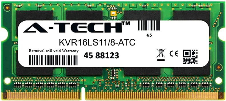 Kingston 8GB SO-DIMM 1600MHz PC3-12800 DDR3L 204-pin SDRAM Memory KVR16LS11//8