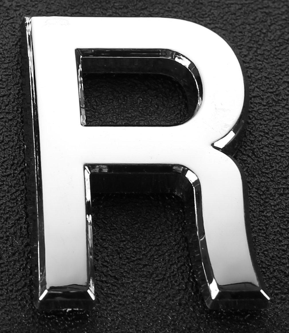 englische Buchstaben Radiant-Metall-Nummer Nummern 3D 2 x silberfarbene Metall-Buchstaben Schild f/ür Hotel T/ür Zimmernummer A Briefkasten Haus selbstklebend A-Z 5 cm