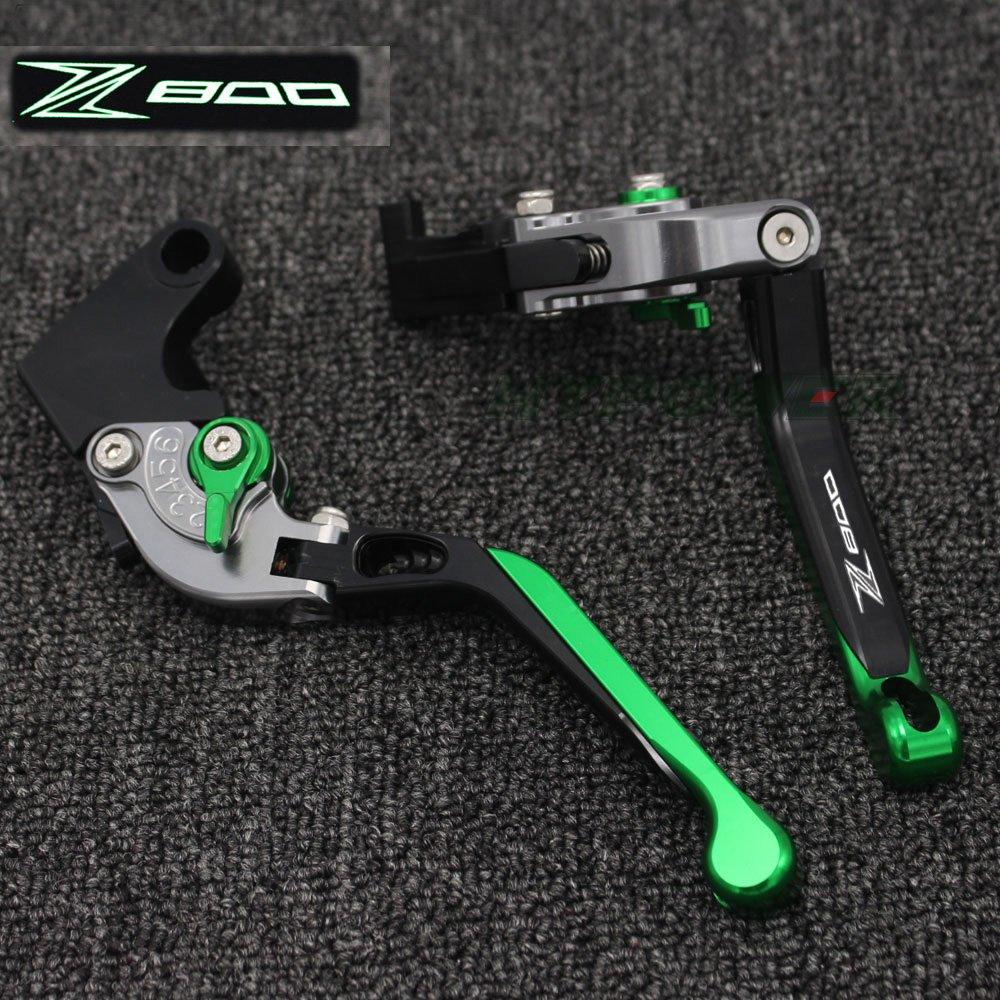 Logotipo lá ser (Z800) naranja + titanio para motocicleta CNC extensible palancas de embrague de freno para kawasaki Z800/E versió n 2013 2014 2015 2016 Yanghua