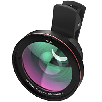 reputable site 95847 35398 AUKEY iPhone Lens kit 0.67x 100° Wide Angle + 10x Macro Clip-on Cell Phone  Camera Lenses Kit for Samsung, Android Smartphones, iPhone Created using ...