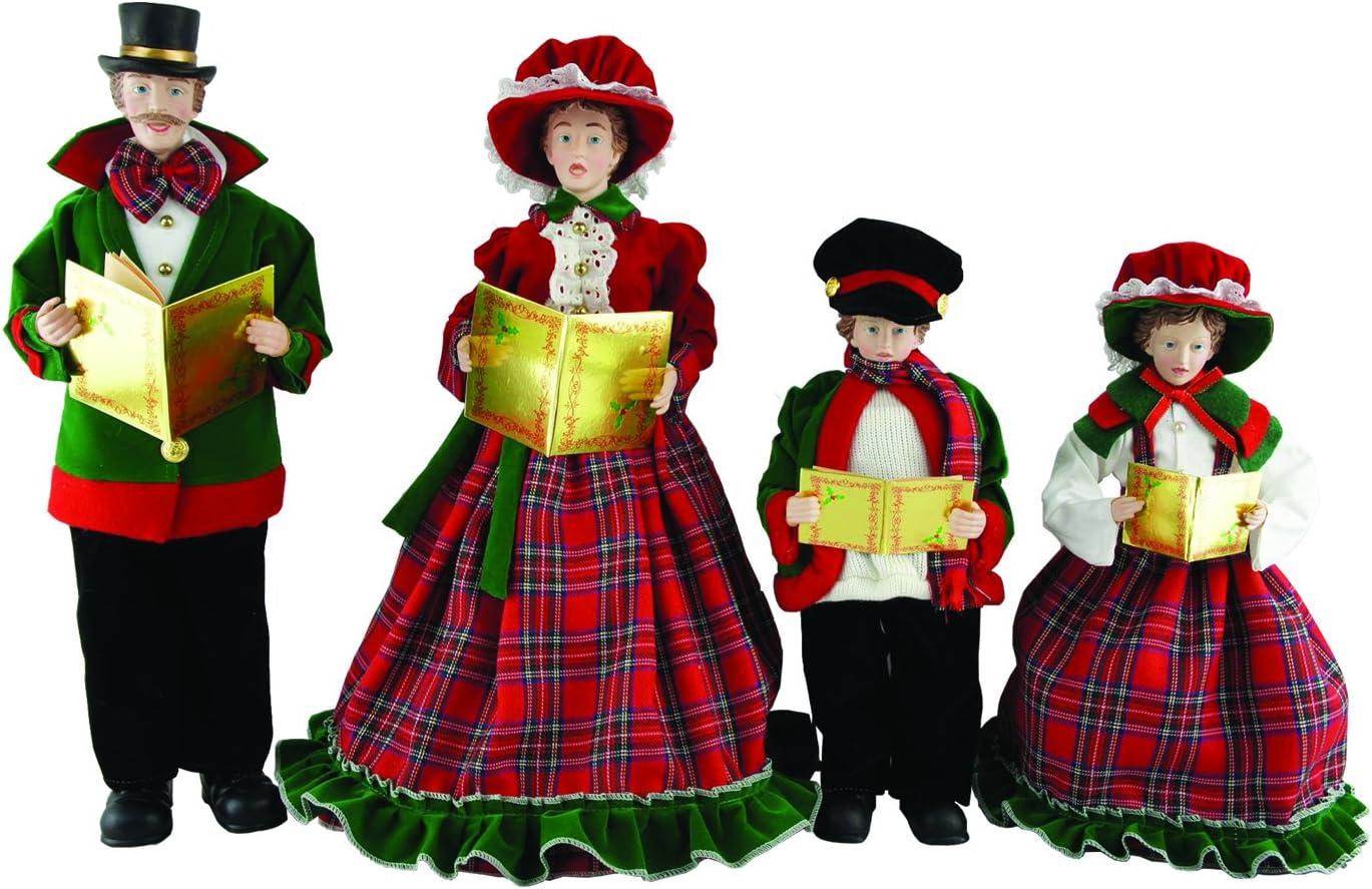 Santa s Workshop 3150 Christmas Day Carolers Figurine, Set of 4, 15 x 18
