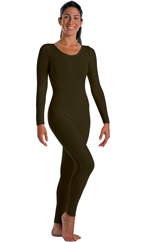 d92b80f0bd91 Amazon.com  Big Girls Long Sleeve Footless Cotton Lycra Unitard ...