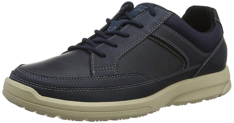 Rockport Welker Casual Laceup Navy, Zapatos de Cordones Derby para Hombre