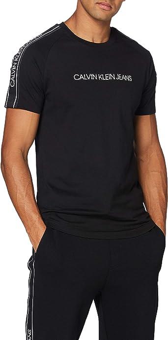Calvin Klein Logo Tape Shoulder Tshirt Camisa para Hombre: Amazon.es: Ropa y accesorios