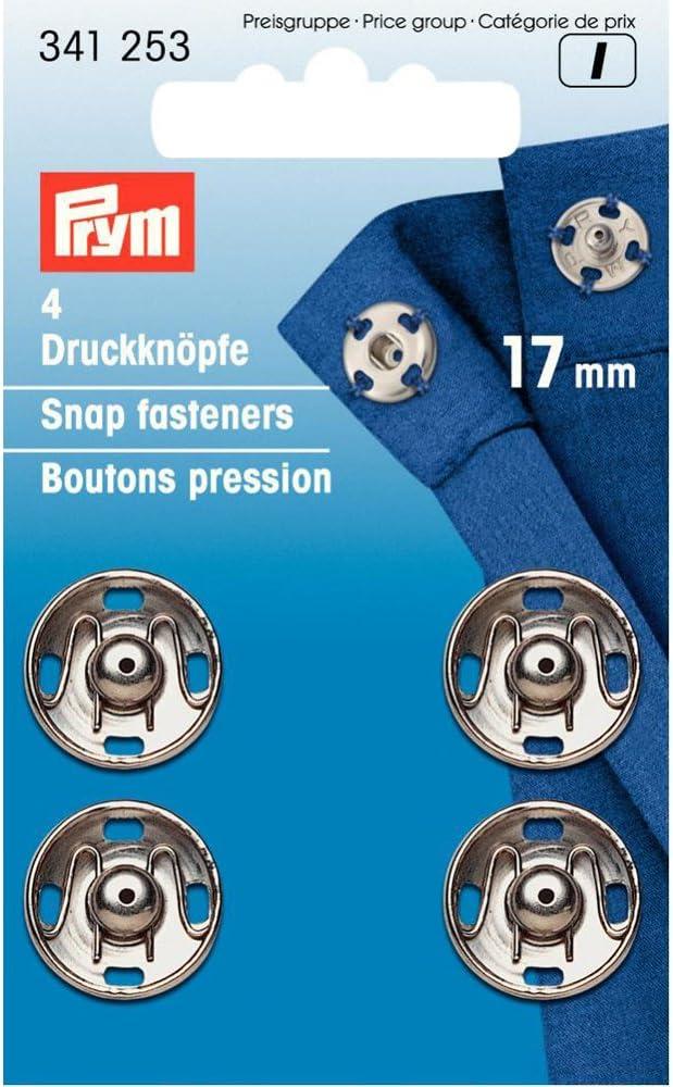 Prym Boutons-Pression Coudre 21mm Laiton Argent