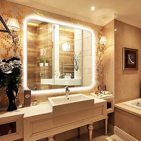 Delicieux NEUTYPE 35u0026quot; X 31u0026quot; Backlit Mirror Bathroom Sink Mirror Horizontal  And Vertical Wall