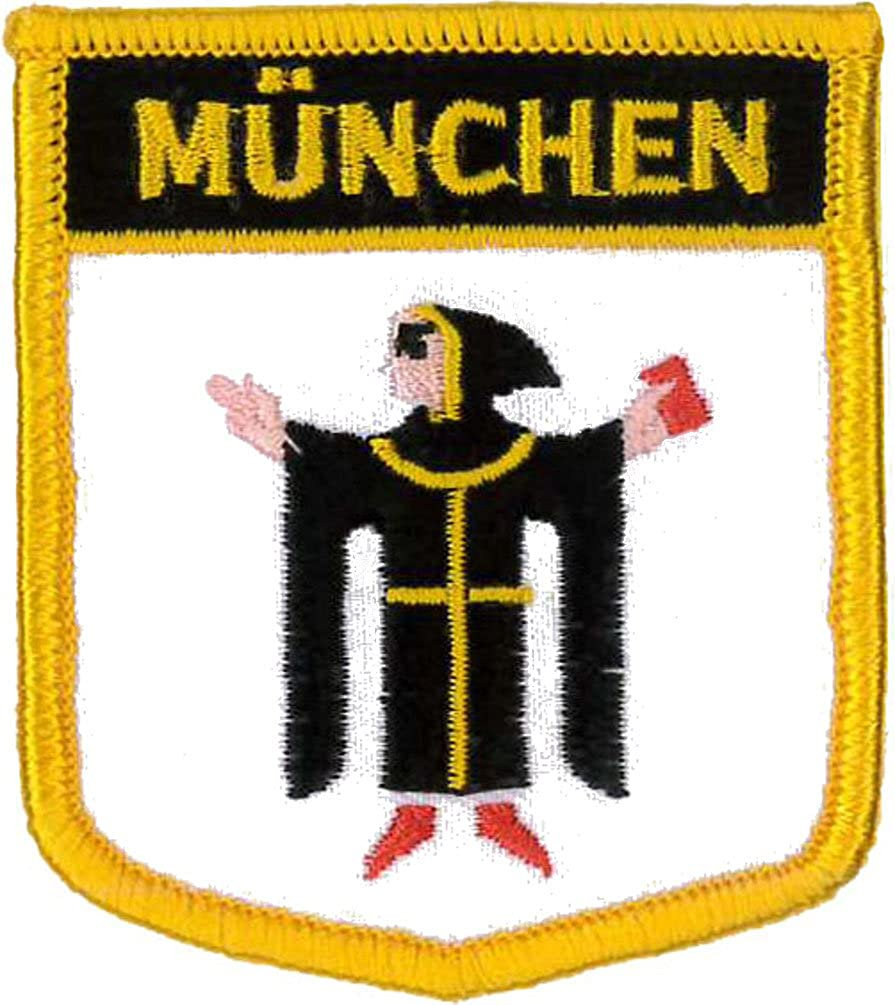 Munich Shield Embroidered Patch 7cm x 6cm
