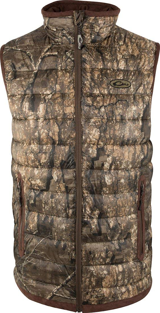 Drake LST Double Down Layering Vest Realtree Timber MD by Drake