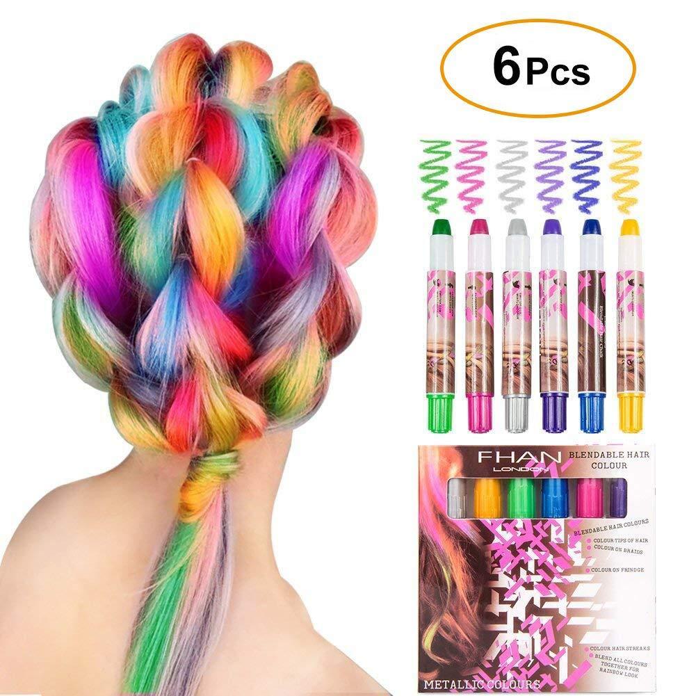 WloveTravel Haarkreide Geschenke für Mädchen Kinder 6 Farben ...