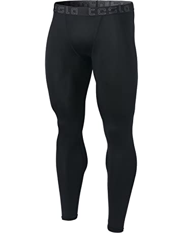 9afb511548 TSLA Men's Compression Pants Running Baselayer Cool Dry Sports Tights  Leggings