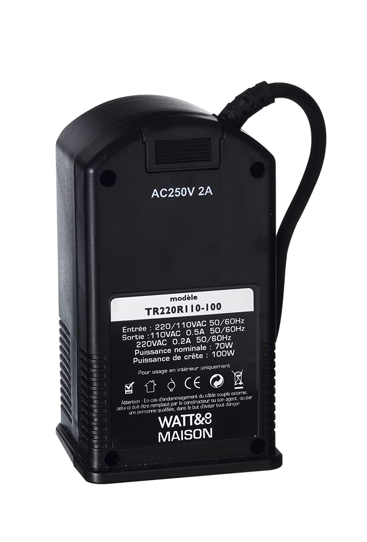 ★ Transformateur 110v 220v r/éversible 100 Watts WATT/&CO ★ LA solution compl/ète pour utiliser aux USA Am/érique Latine Canada tous vos appareils /électriques fran/çais en 220 volts jusqu/'/à pays en 110 volts