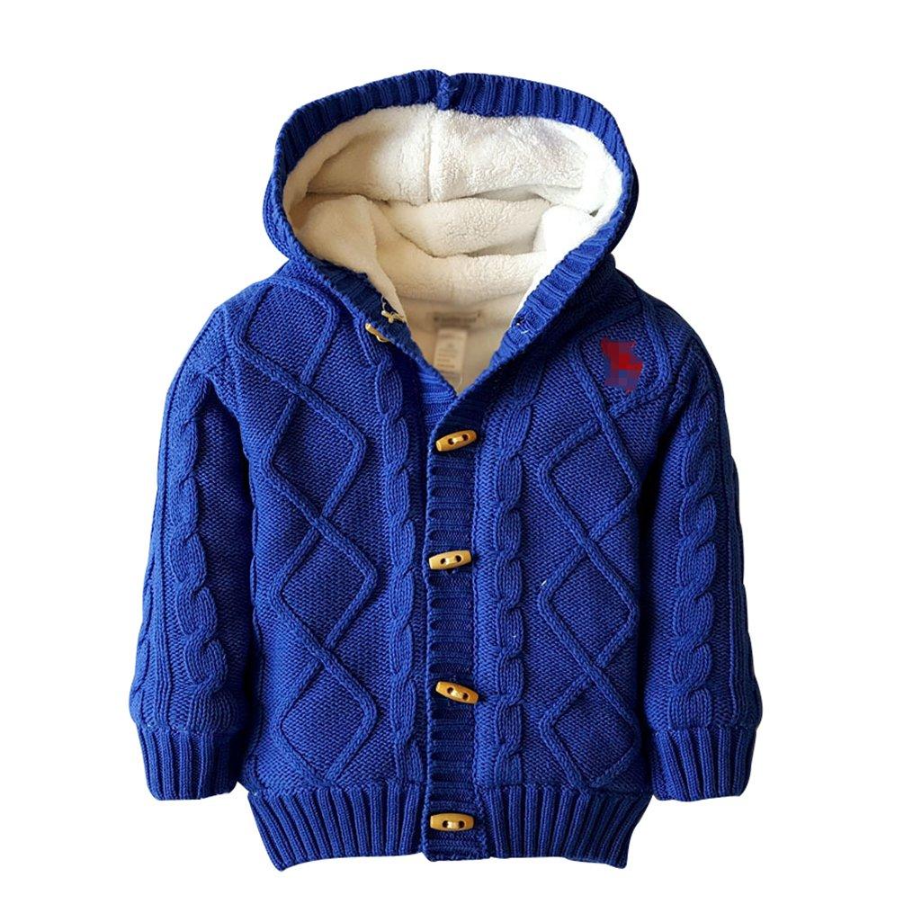 YuanDian Baby Stricken Kapuzenpullover Verdicken Korallen SAMT Unisex Warme Pullover