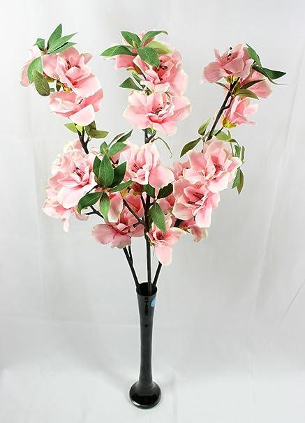 Large azalea spray 3 artificial flower stems amazon large azalea spray 3 artificial flower stems mightylinksfo